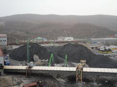 Открытый склад угля